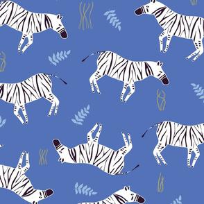 Zebra print_Blue