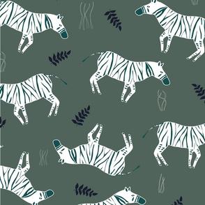 Abstract-Zebra_Green