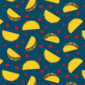 I love tacos - dark blue - Taco Valentine - Valentine's Day - LAD19