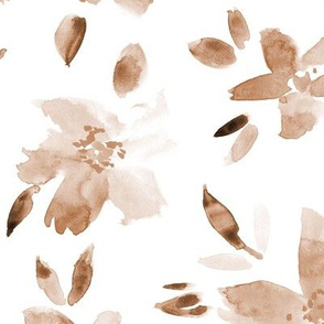 Earthy watercolor flowers ★ painted neutral boho florals for modern home decor, bedding, nursery