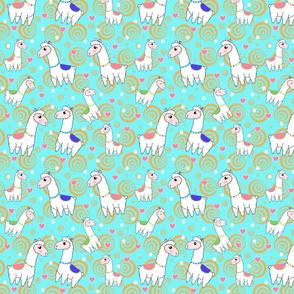 Llama Love in Blue