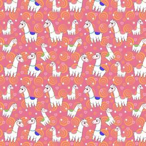 Llama Love in Pink