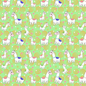 Llama Love in Green