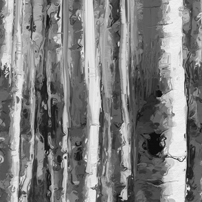 Black and White Birch Forest by kedoki