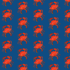 red blue crab on pantone 2020 classic blue