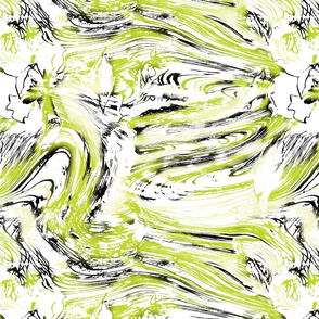 Brush stroke Floral- Chartreuse