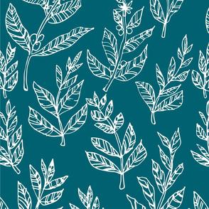 coffee leaf laurel pattern-01