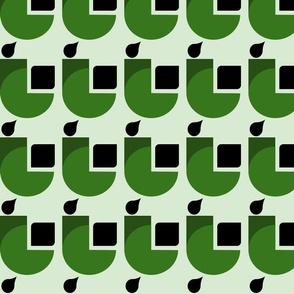 green art deco experiment