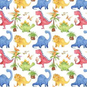 long ago dinosaurs having fun - 4 inch tall