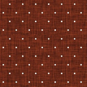 mahogany linen swiss dots