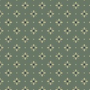 Westfield: Green & Khaki Art Nouveau Geometric Print
