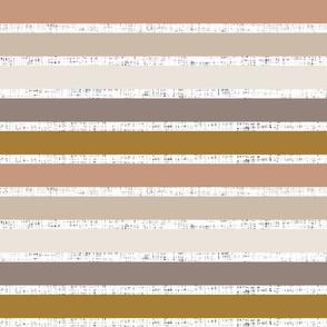 stripes: white linen + spice, stone, sugar sand, mud, bronze