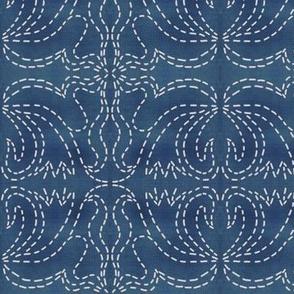 stitches on ocean blue
