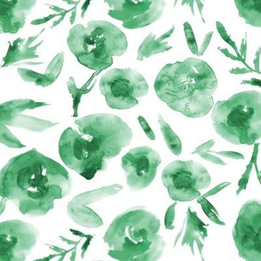 Mint roses ★ watercolor green tonal flowers for modern home decor, bedding, nursery