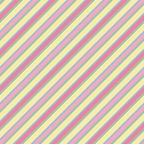 Pastel rainbow diagonal stripes