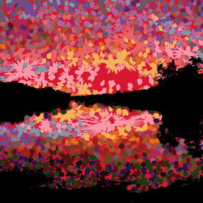 Sunset Over Mirror Lake 1-Yd Wall Hanging
