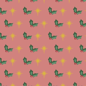 Holly and stars pattern