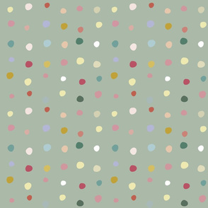 dots in green background
