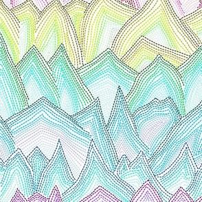 Rainbow Stitch Mountains