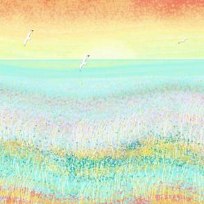 abstract sea sunset