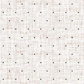 sugar sand linen swiss dots