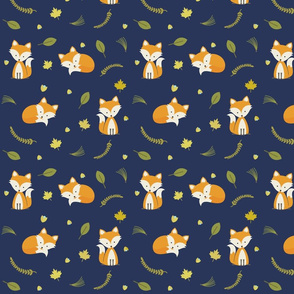 Woodland Fox Pattern Baby Boy