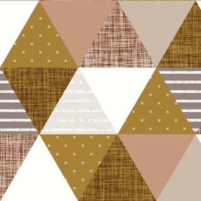 triangle wholecloth: spice, stone, sugar sand, mud, bronze