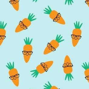 hipster carrots - blue - easter & spring garden - LAD19