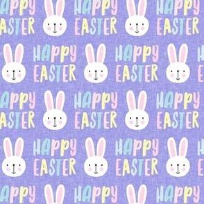happy easter - bunny - pastel on purple  - LAD19
