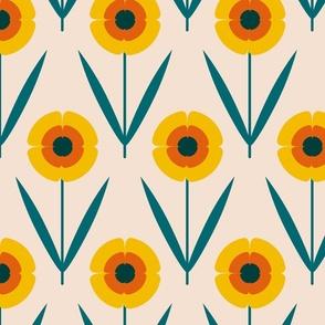 retro flower_oat