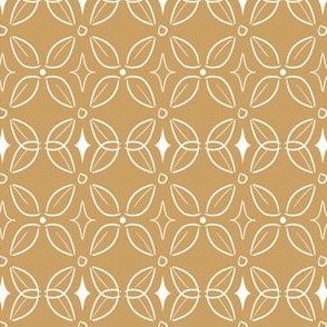 Butterfly Lattice in Goldenrod and White