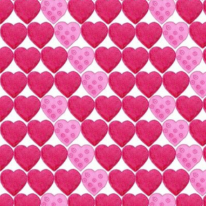 Red Hearts with Pink Zig Zag