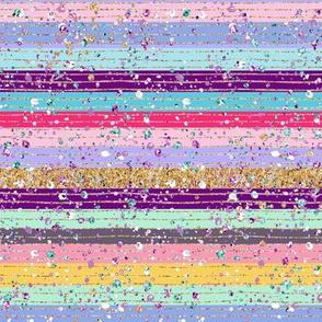 Easter Glitter sparkles stripes