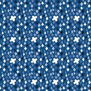 scattered crosses blue
