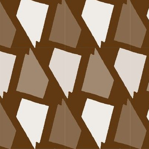 Nevada State Shape Pattern Brown And Whi Spoonflower