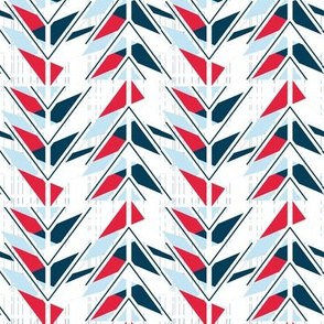Patriotic Red, White, and  Blue Color Block Arrows