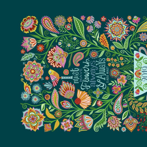 I Must Have Flowers-2019 Tea Towel Calendar