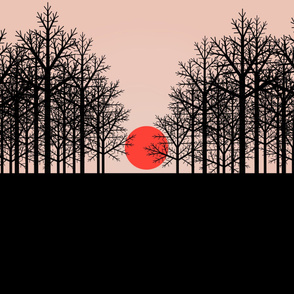 trees like black lace sunset 2