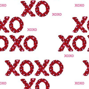 Sweet love and kisses leopard animal print xoxo text design valentines day red white