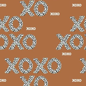 Sweet love and kisses leopard animal print xoxo text design valentines day boys mint brown