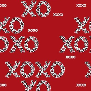 Sweet love and kisses leopard animal print xoxo text design valentines day red pink
