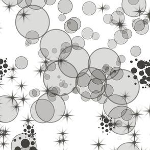 black white bubbles