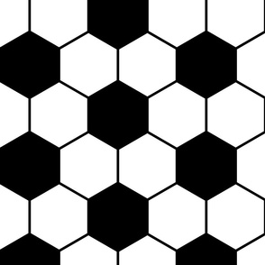 soccer ball pattern - black and white - LAD19