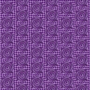 HCF14 - Small - Hurricane in Checkered Field of  Purple and Lavender