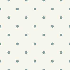 Blue polka dots on light background