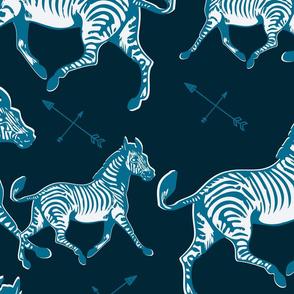Galloping Blue Zebras
