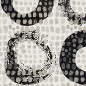 zen circles black