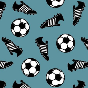 Soccer balls and cleats - slate - soccer gear - LAD19