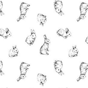 Sketched rabbits spaced out on white background_Artboard 2 copy 3