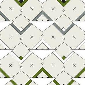 Zig Zag Triangles - Green